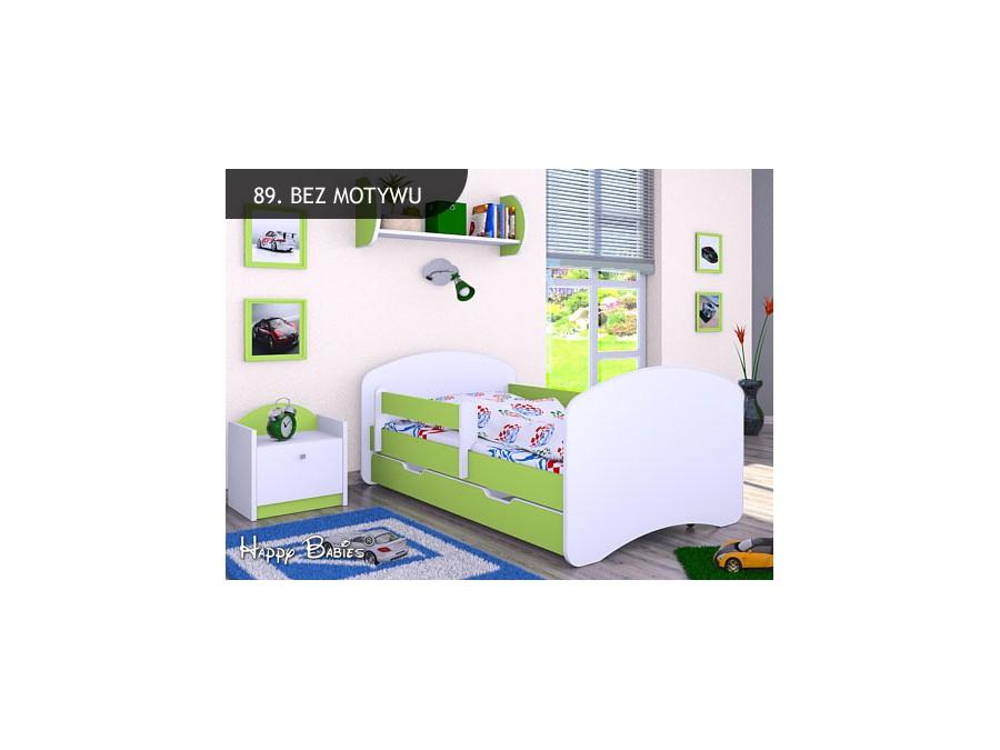 Happy Babies Detská posteľ HAPPY L06 180/90 - bez obrázka/s úložným priestorom Farba: Zelená / Biela, Prevedenie: 90 x 180 cm / S úložným priestorom, Obrázok: Bez obrázku