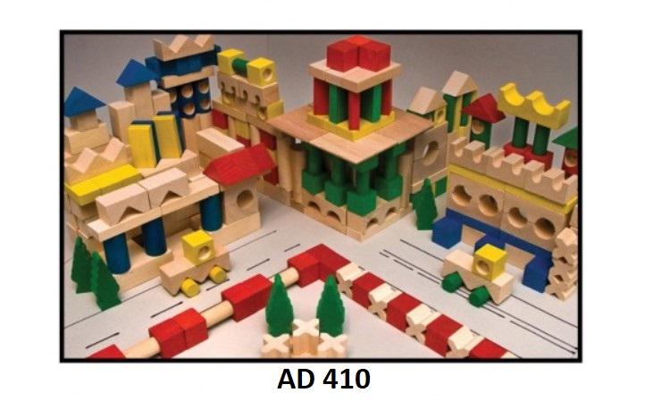 Drewmax Drevené kocky pre deti Prevedenie: AD 410