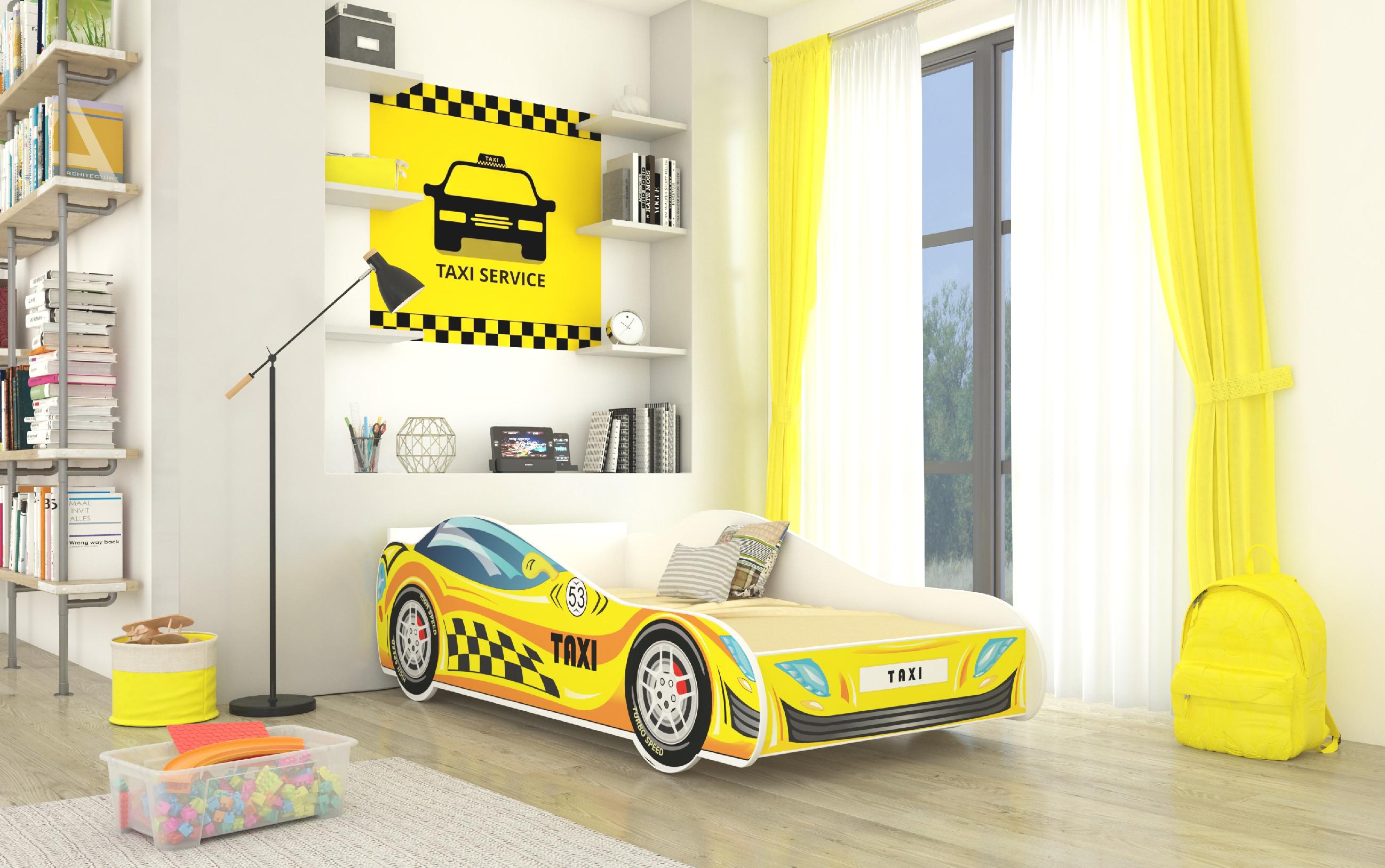 ArtAdr Detská auto posteľ TAXI Prevedenie: 70 x 140 cm
