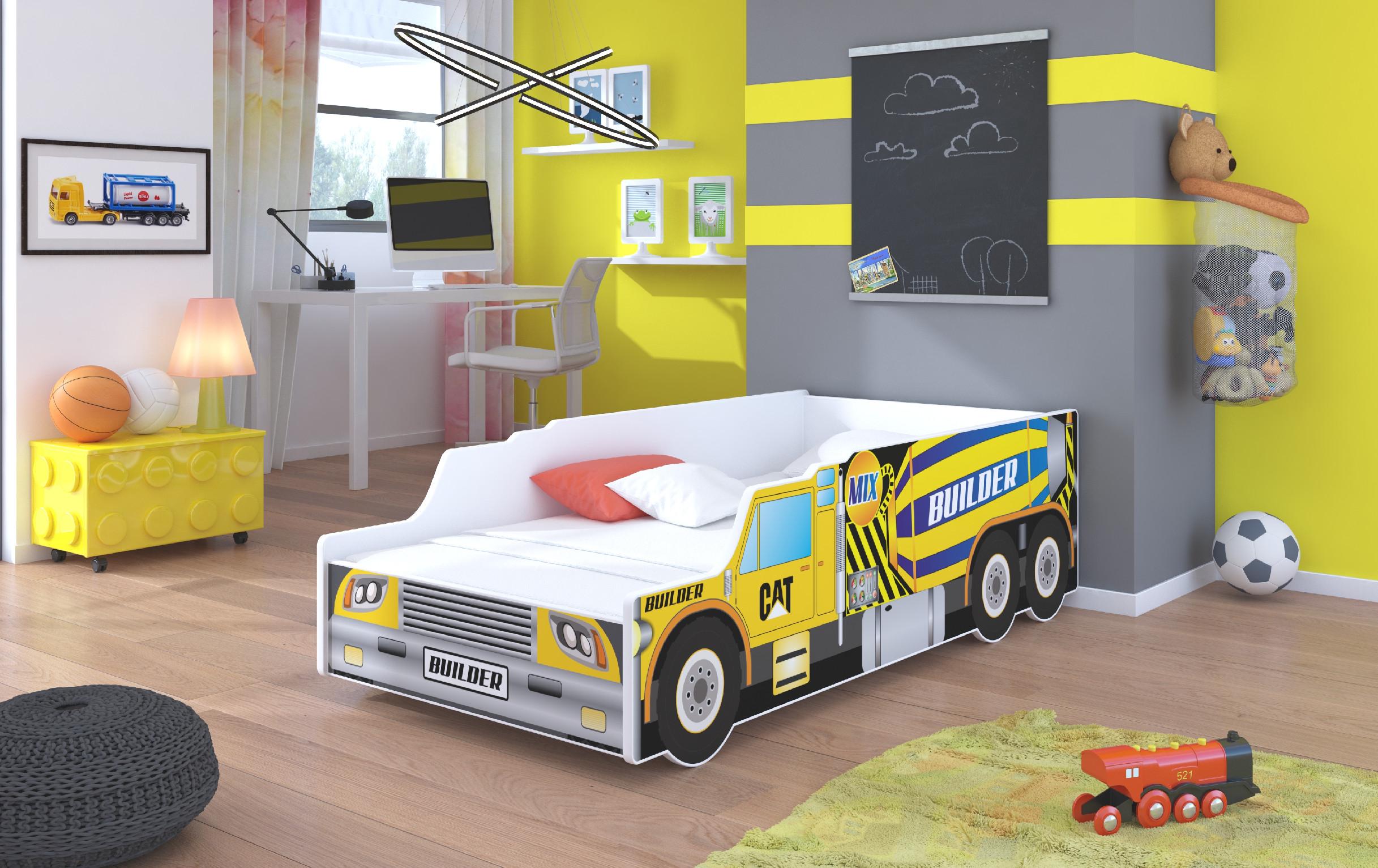 ArtAdr Detská auto posteľ BUILDER Prevedenie: 70 x 140 cm