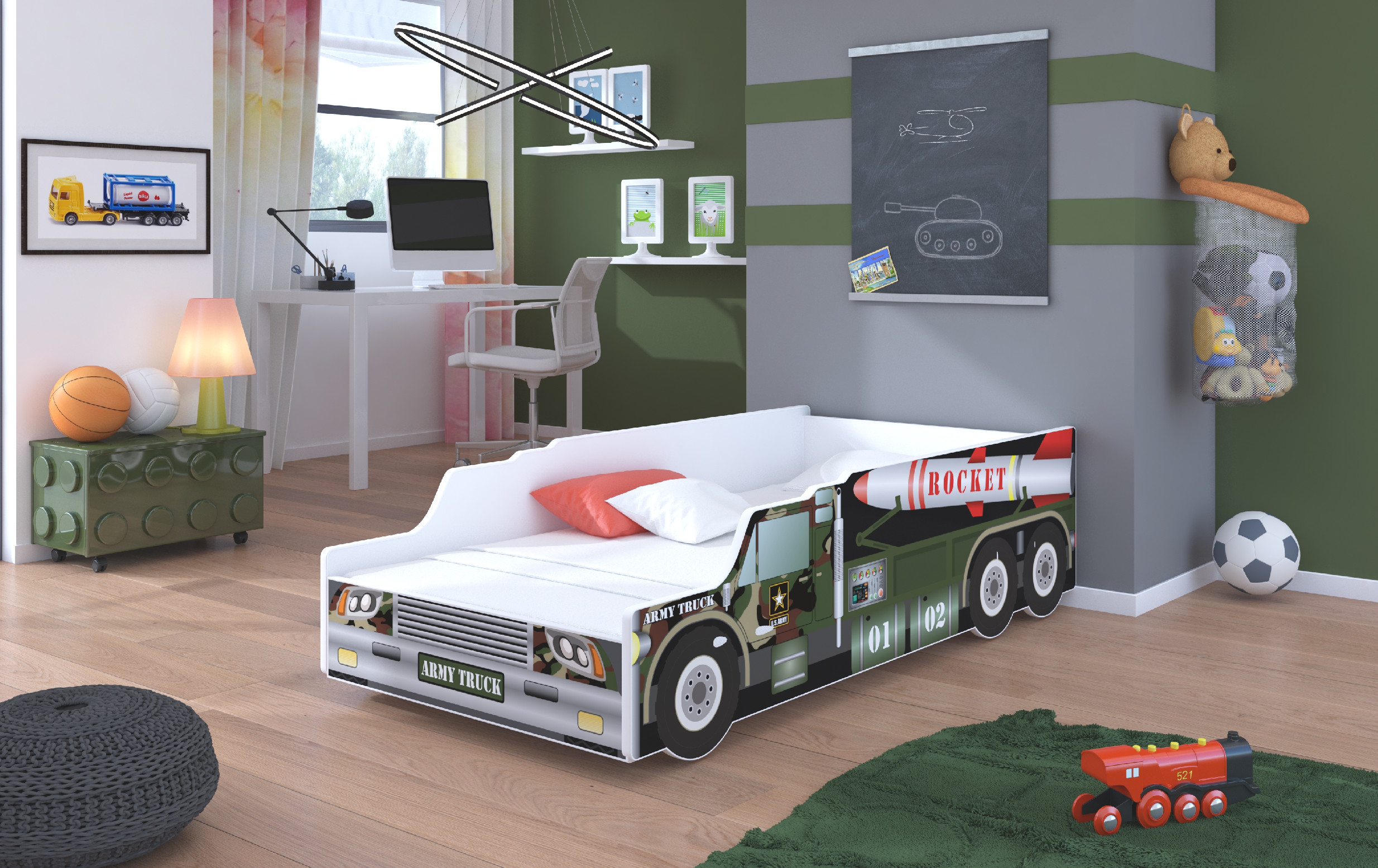 ArtAdr Detská auto posteľ ROCKET Prevedenie: 70 x 140 cm
