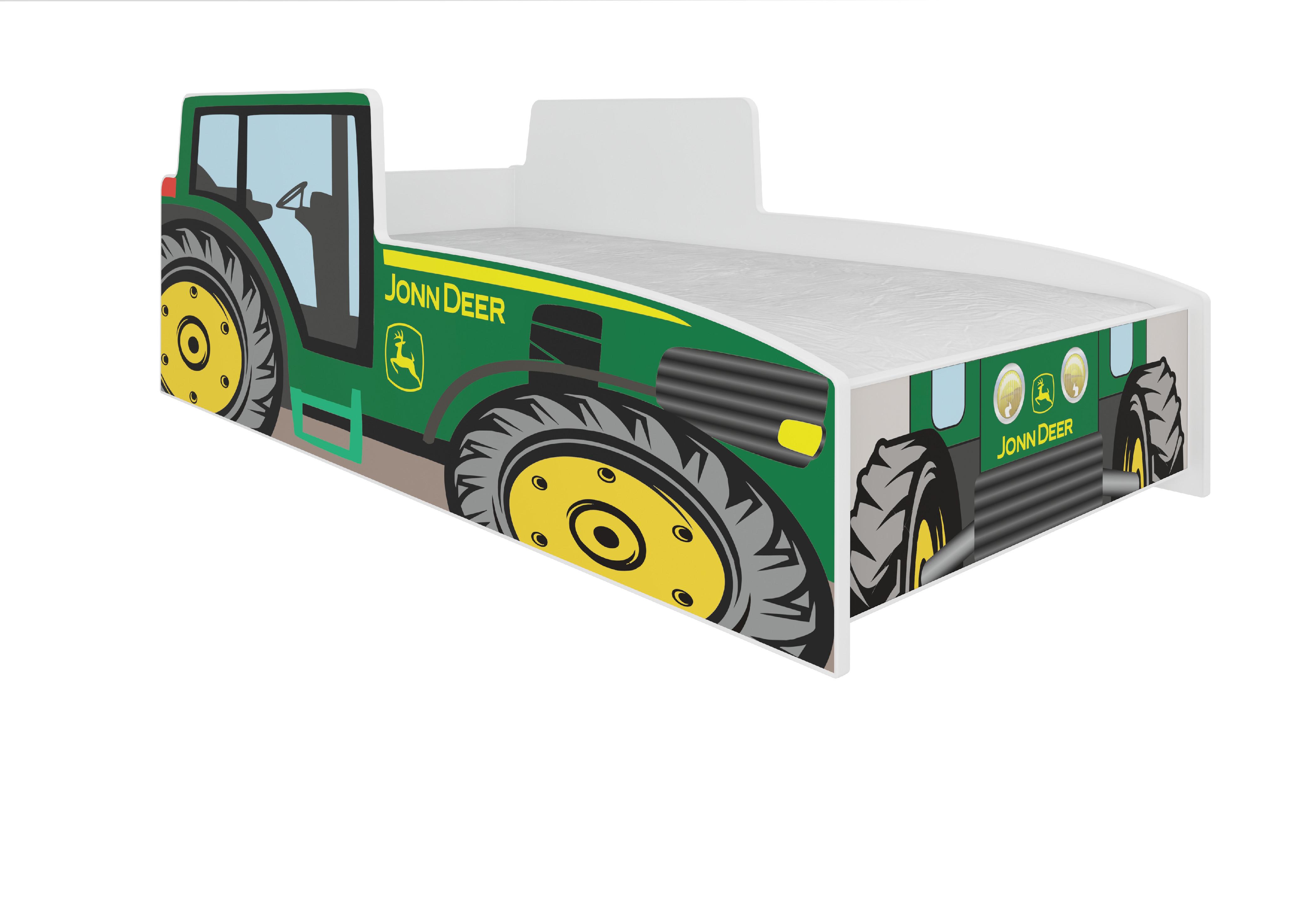 ArtAdr Detská auto posteľ TRACTOR Farba: Zelená, Prevedenie: 70 x 140 cm