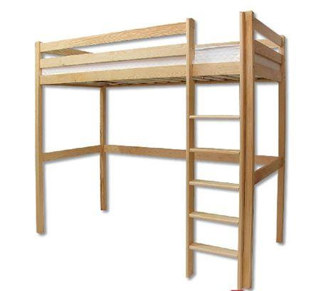 Drewmax Poschodová posteľ - masív LK135 | borovica - skladová zásoba