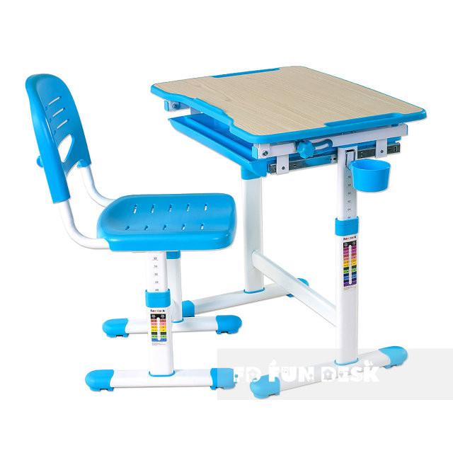 Fundesk Rastúci stôl PICCOLINO + stolička Farba: Modrá
