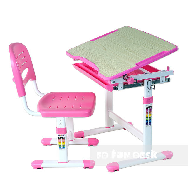 Fundesk Rastúci stôl PICCOLINO + stolička Farba: Ružová