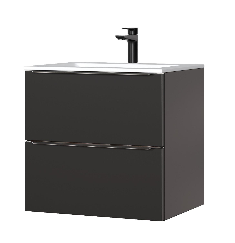 ArtCom Kúpeľňová zostava Capri | čierny mat Capri | čierny mat: Skrinka pod umývadlo 820 - 60 cm