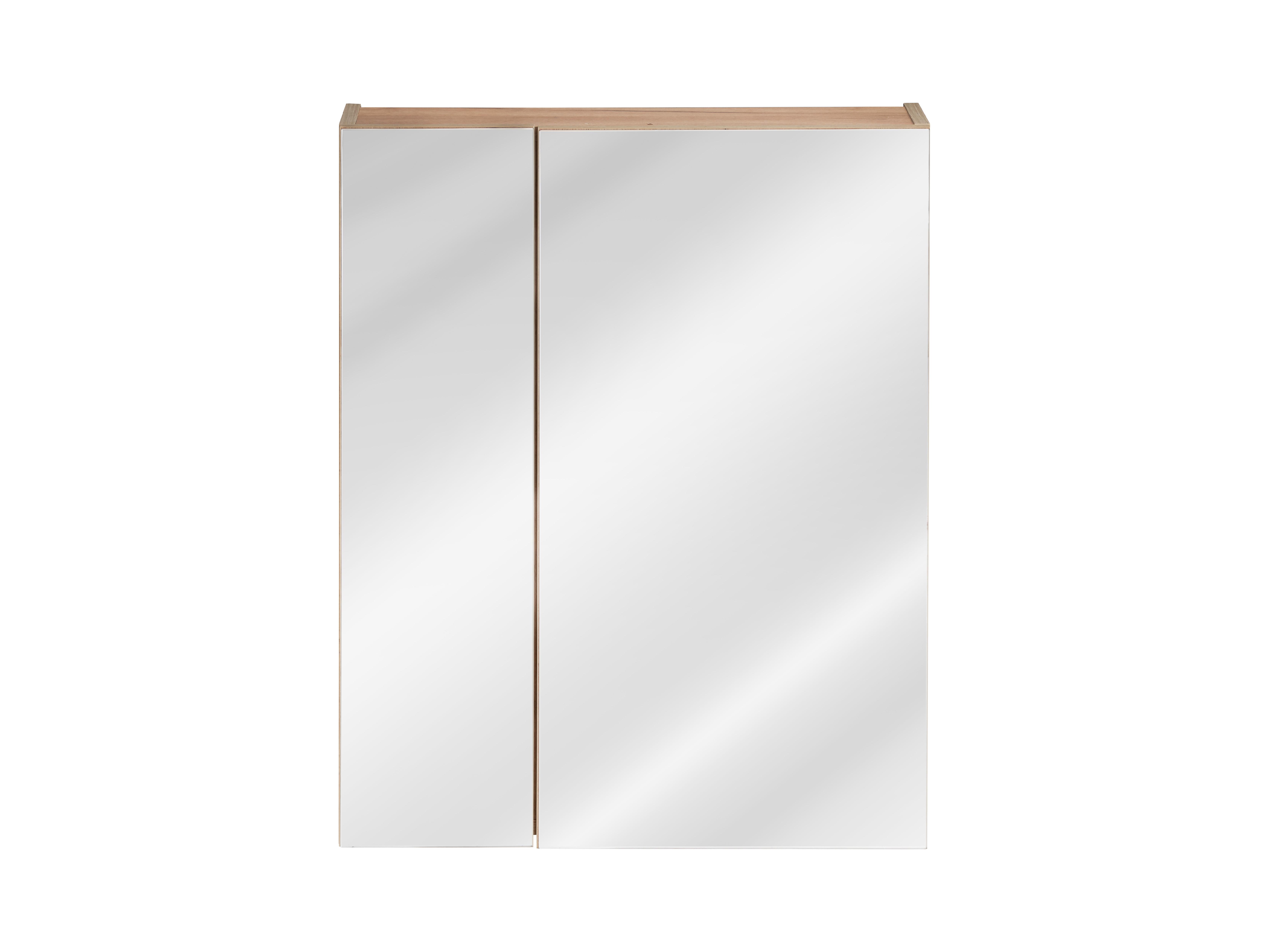 ArtCom Kúpeľňová zostava Capri | čierny mat Capri | čierny mat: Horná zrkadlová skrinka 842 - 60 cm