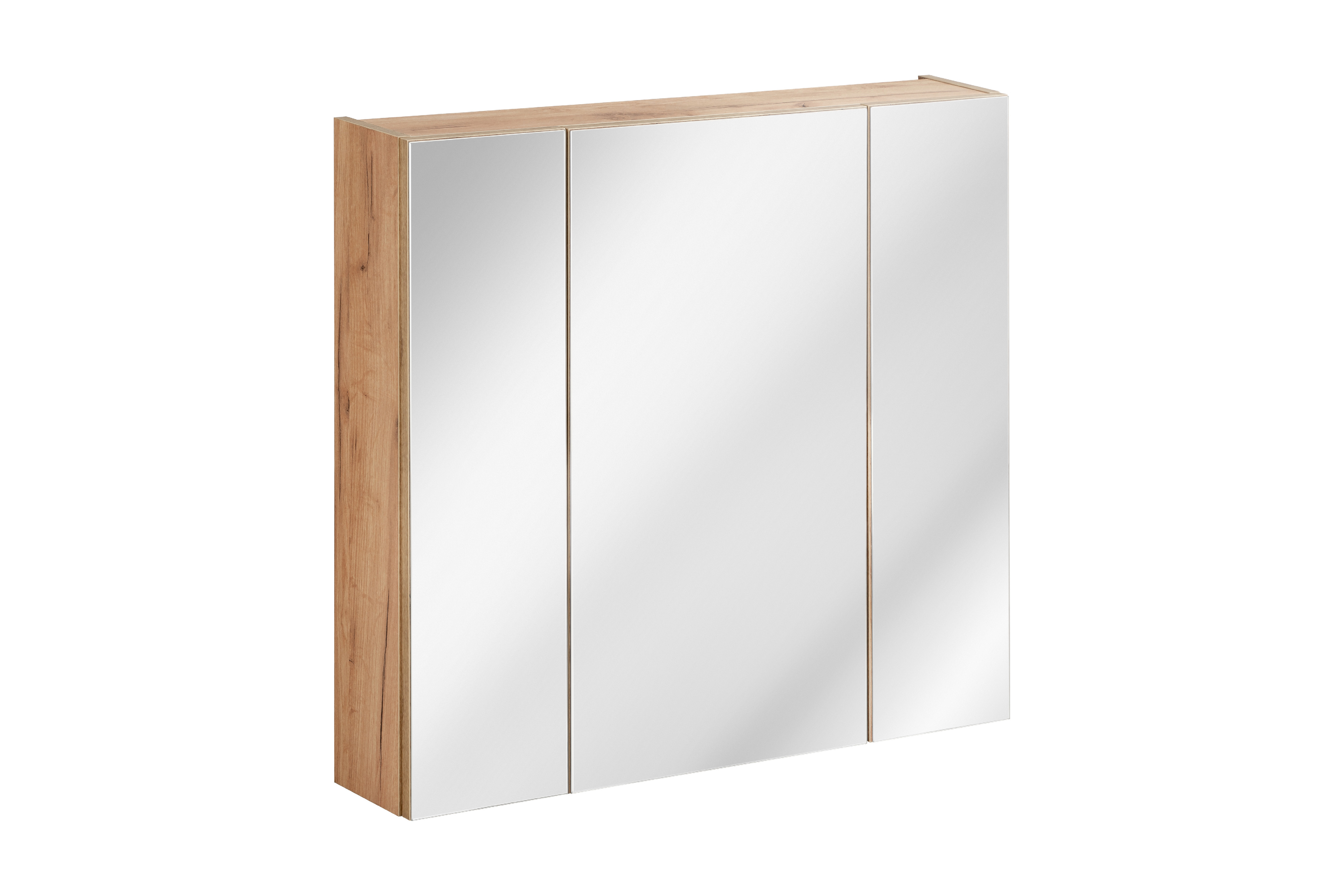 ArtCom Kúpeľňová zostava Capri Cosmos   čierny mat Capri   dub zlatý: Horná zrkadlová skrinka 843 - 80 cm