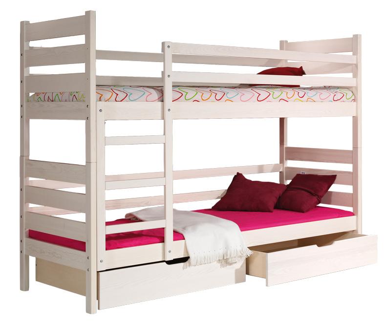 dolmar-detska-poschodova-postel-darek-farba:-biela