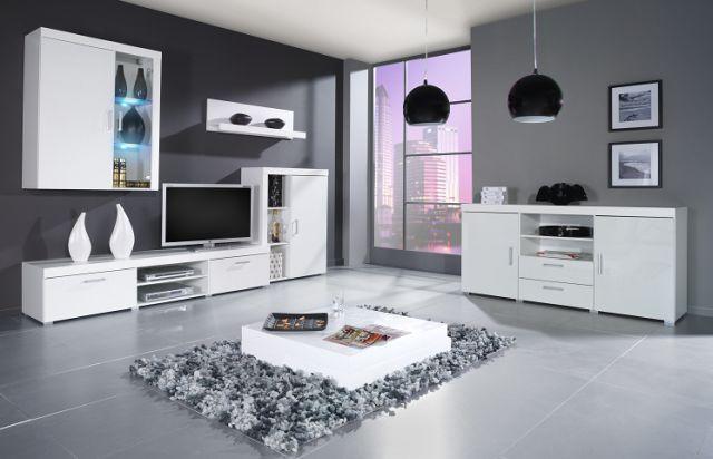 Artcam Obývacia stena SAMBA A Farba: Biela/biely lesk