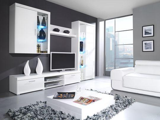 Artcam Obývacia stena SAMBA B Farba: Biela/biely lesk