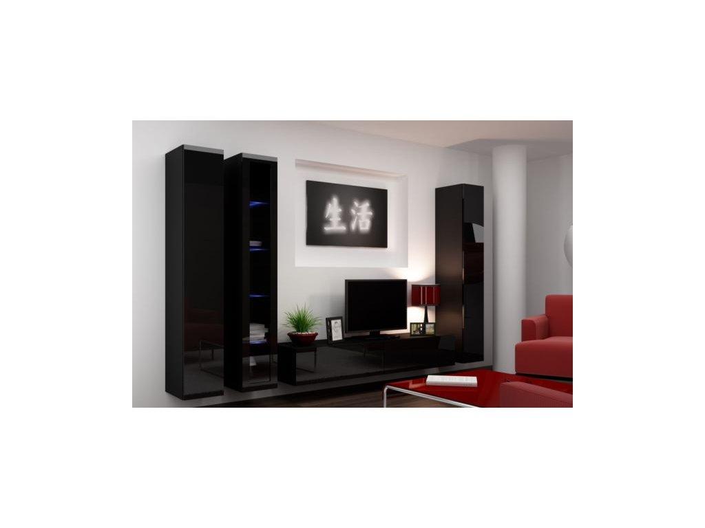 Artcam Obývacia stena Vigo II Farba: Čierna/čierny lesk