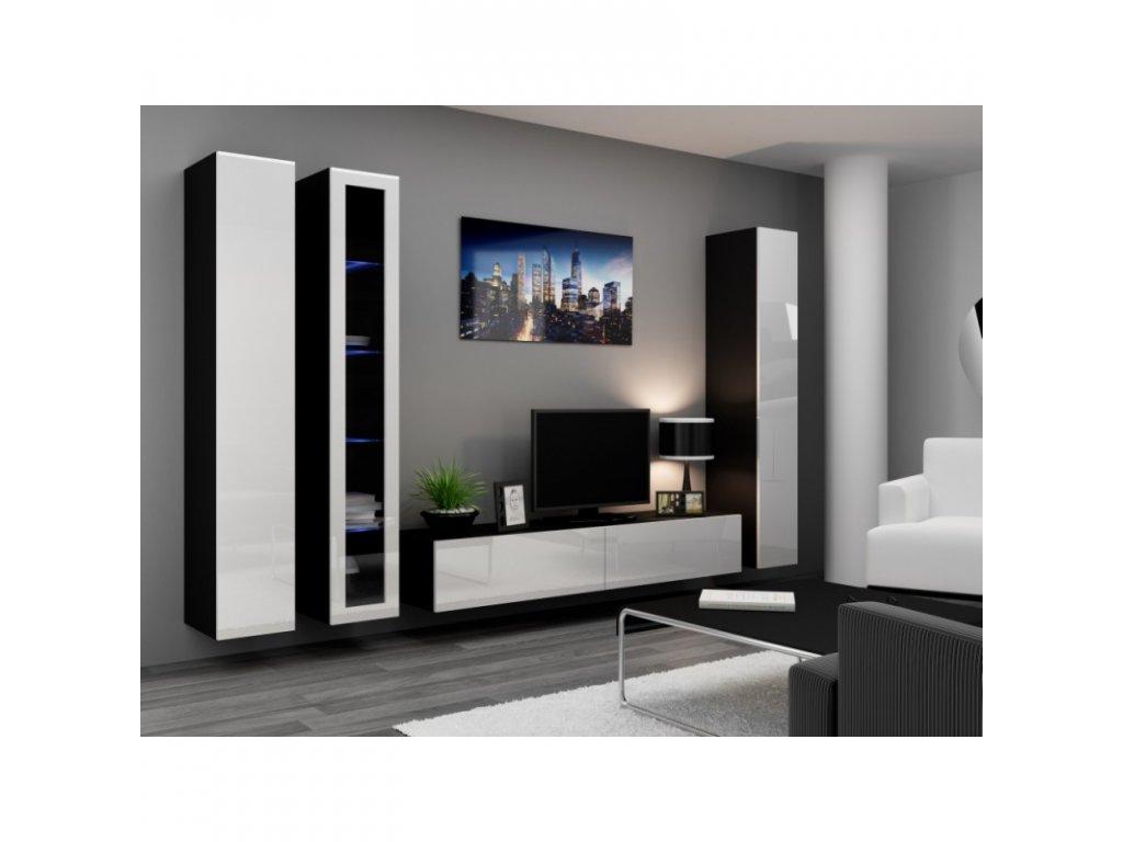 Artcam Obývacia stena Vigo II Farba: čierna/biely lesk