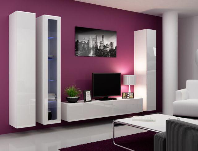 Artcam Obývacia stena Vigo II Farba: Biela/biely lesk
