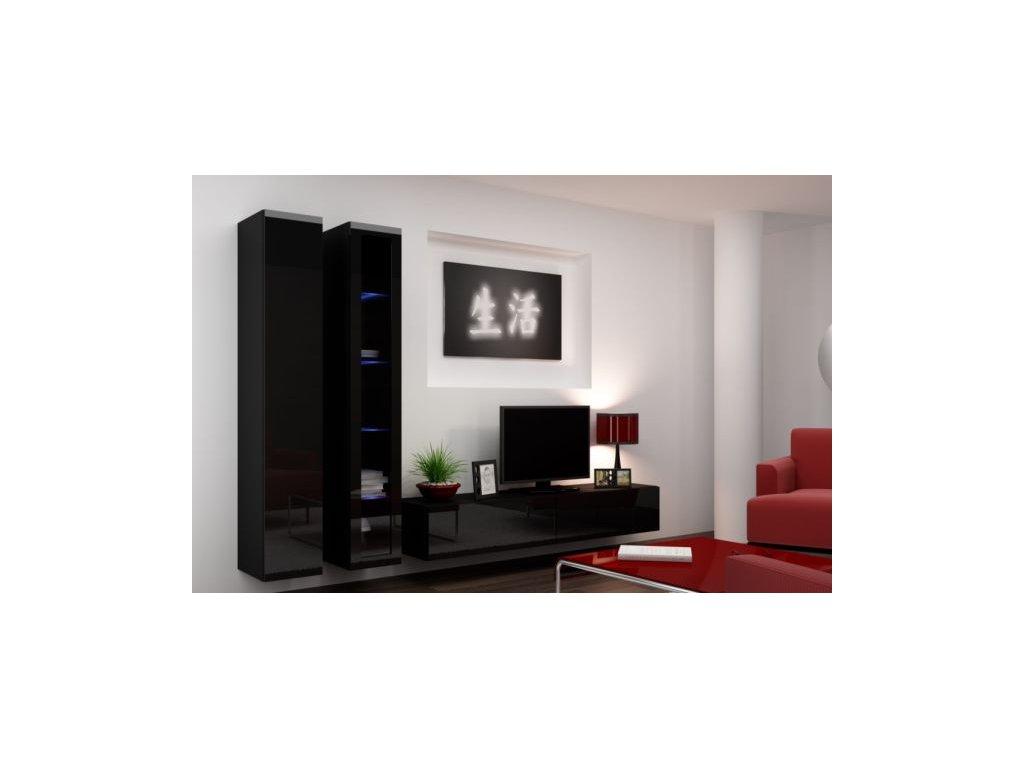 Artcam Obývacia stena Vigo III Farba: Čierna/čierny lesk