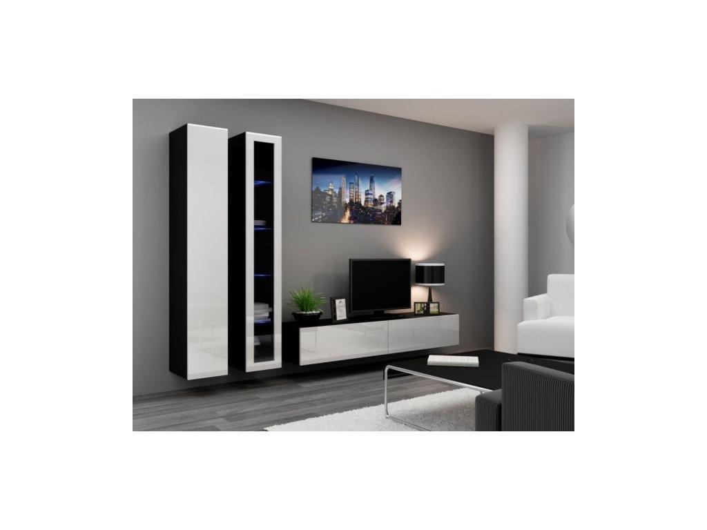 Artcam Obývacia stena Vigo III Farba: čierna/biely lesk