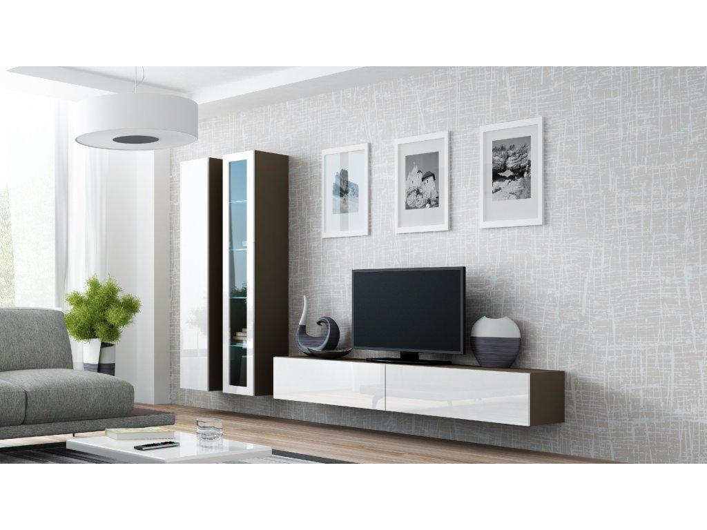 Artcam Obývacia stena Vigo III Farba: Latte/biely lesk