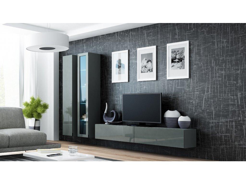 Artcam Obývacia stena Vigo III Farba: Sivá/sivý lesk