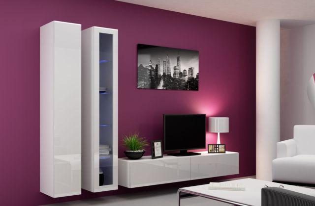 Artcam Obývacia stena Vigo III Farba: Biela/biely lesk
