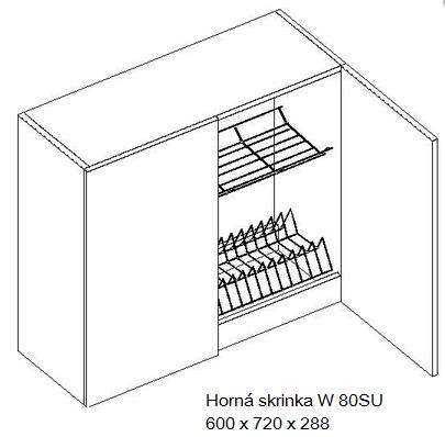 Kuchynská linka OLIWIA Typ: Horná skrinka OLIWIA W 80SU