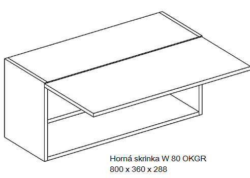 Kuchynská linka OLIWIA Typ: Horná skrinka OLIWIA W 80 OKGR