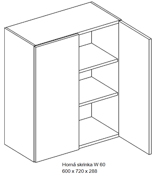 Kuchynská linka OLIWIA Typ: Horná skrinka OLIWIA W 60