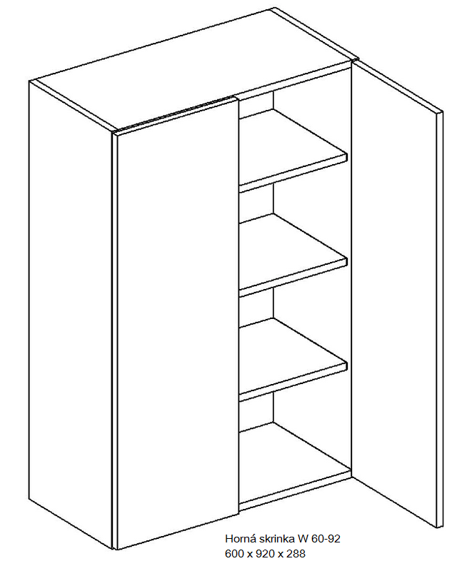 Kuchynská linka OLIWIA Typ: Horná skrinka OLIWIA W 60-92