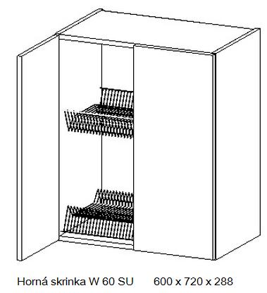 Kuchynská linka OLIWIA Typ: Horná skrinka OLIWIA W 60 SU