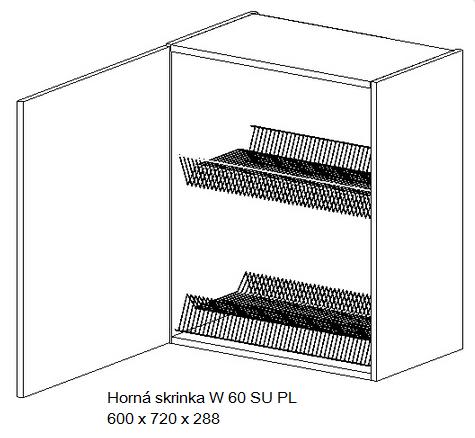 Kuchynská linka OLIWIA Typ: Horná skrinka OLIWIA W 60 SU PL