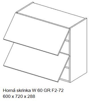 Kuchynská linka OLIWIA Typ: Horná skrinka OLIWIA W 60 GR F2-72