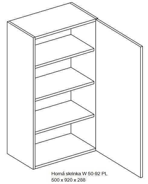 Kuchynská linka OLIWIA Typ: Horná skrinka OLIWIA W 50-92 PL