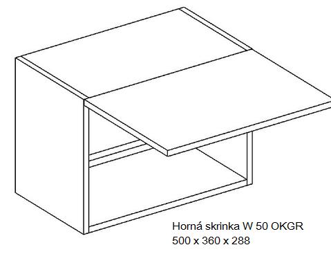 Kuchynská linka OLIWIA Typ: Horná skrinka OLIWIA W 50 OKGR
