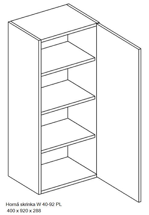 Kuchynská linka OLIWIA Typ: Horná skrinka OLIWIA W 40-92 PL