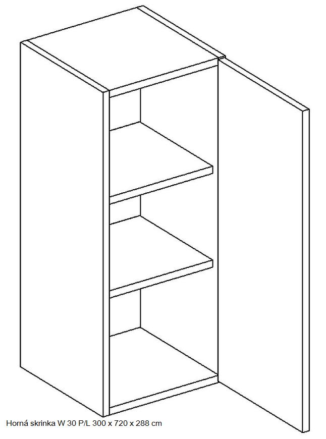 Kuchynská linka OLIWIA Typ: Horná skrinka OLIWIA W 30 PL