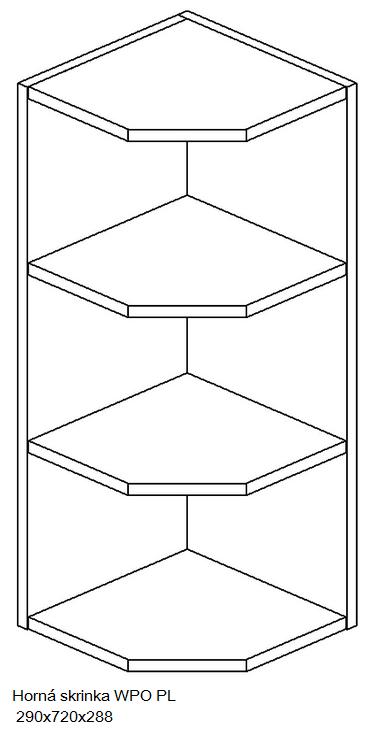 Kuchynská linka OLIWIA Typ: Horná skrinka OLIWIA WPO PL