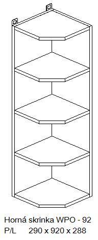 Kuchynská linka OLIWIA Typ: Horná skrinka OLIWIA WPO-92 PL