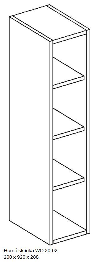 Kuchynská linka OLIWIA Typ: Horná skrinka OLIWIA WO 20-92