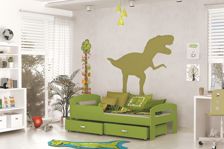 ArtAJ Detská posteľ GRZES 180x80 farebné prevedenie: zelená s matracom