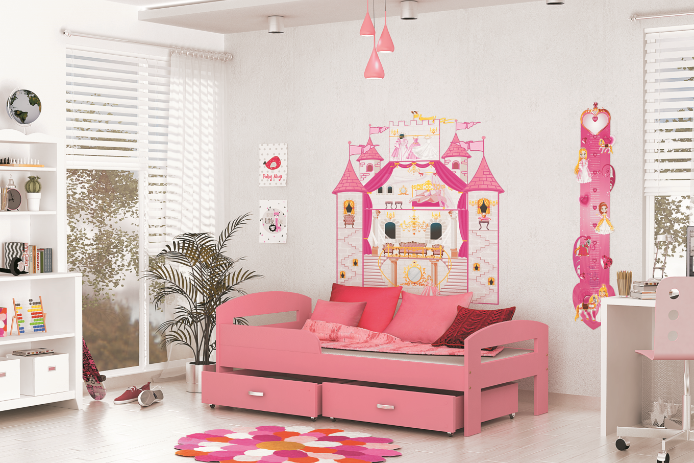 ArtAJ Detská posteľ GRZES 180x80 farebné prevedenie: ružová bez matraca