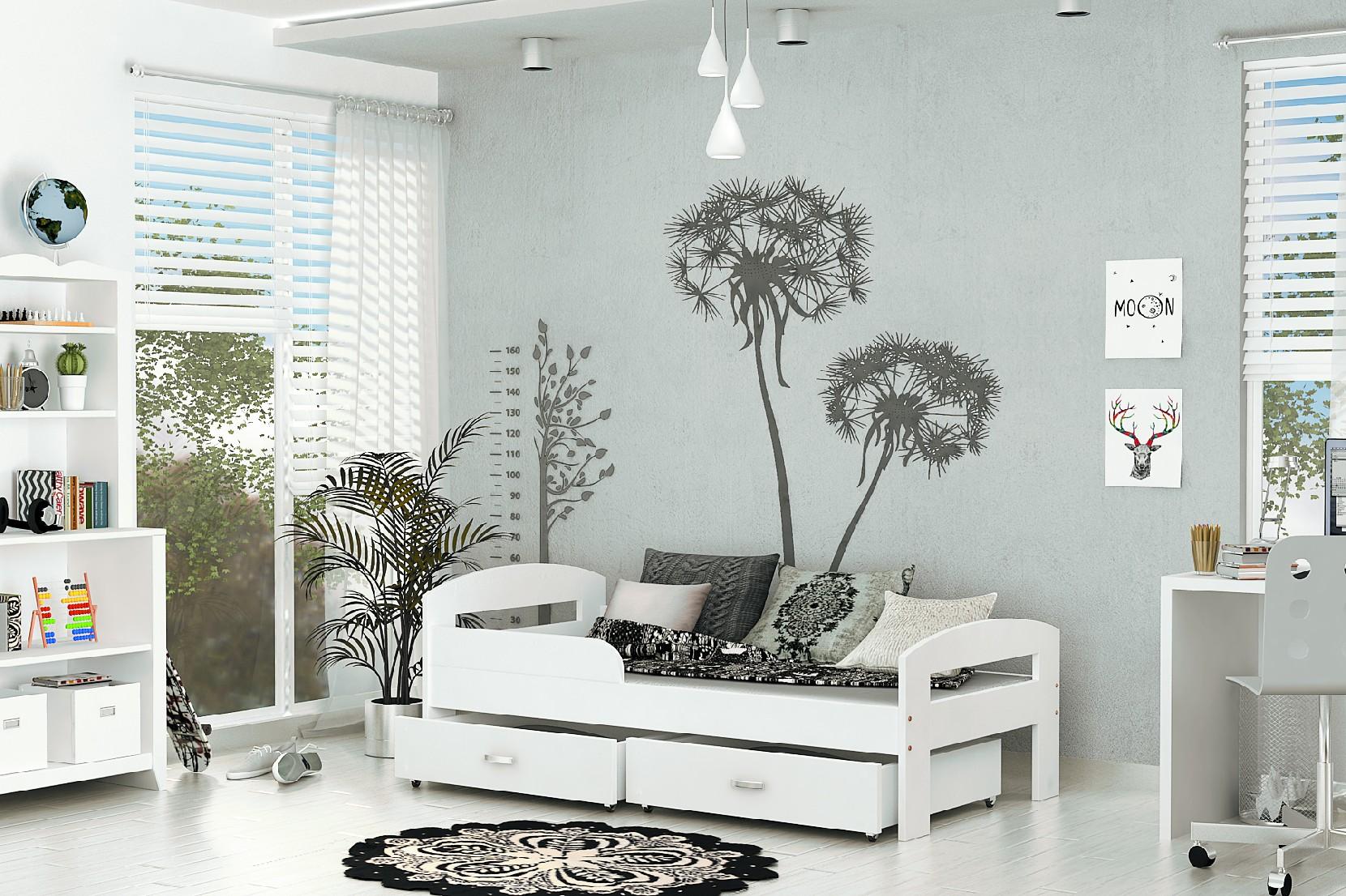 ArtAJ Detská posteľ GRZES 180x80 farebné prevedenie: biela bez matraca