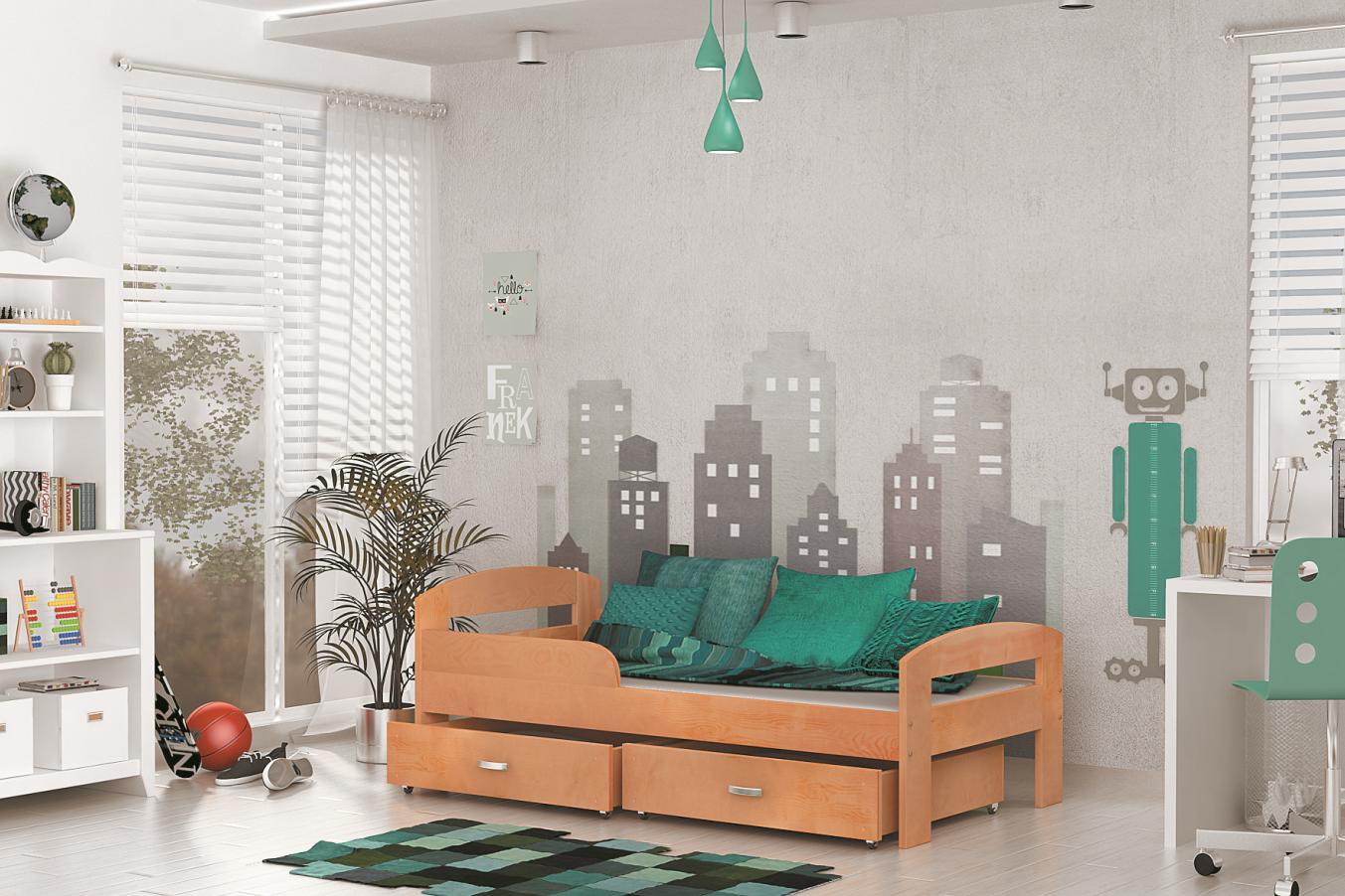 ArtAJ Detská posteľ GRZES 180x80 farebné prevedenie: jelša bez matraca