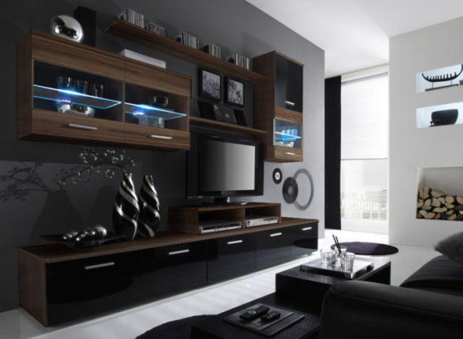Artcam Obývacia stena Logo II slivka/čierna