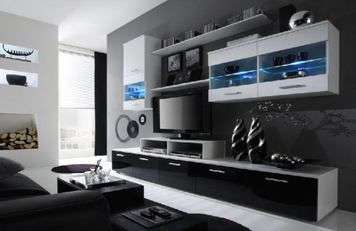 Artcam Obývacia stena Logo II biela/čierna-biela