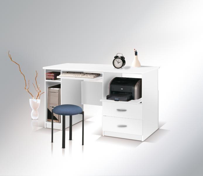 ArtMadex Písací stolík Max so zásuvkou Max: Písací stolík Max so zásuvkou biela
