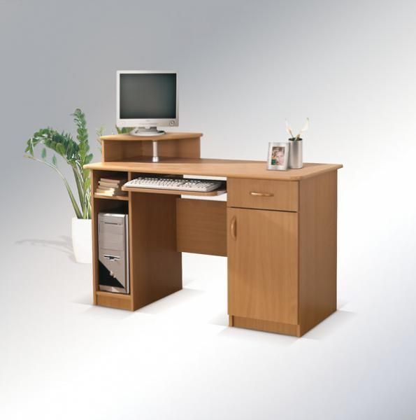 ArtMadex Písací stolík Max s okrúhlou policou Max: Písací stolík Max s okrúhlou policou buk