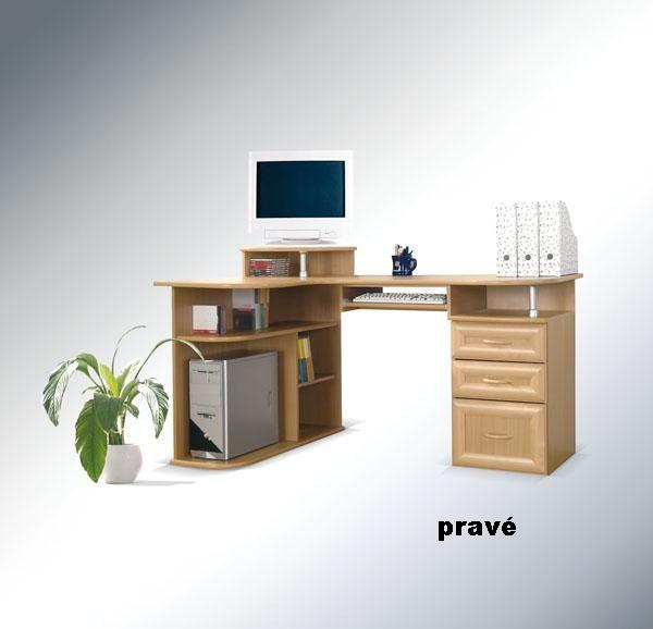 ArtMadex Rohový písací stolík Gufi Gufi: Písací stolík Gufi buk, Prevedenie: pravý