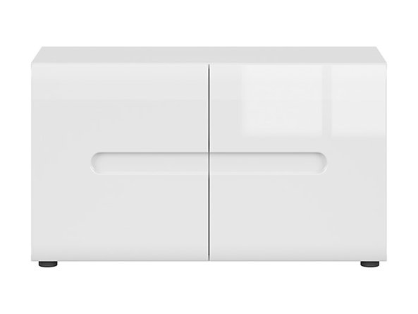 BRW Skrinka na topánky: AZTECA TRIO - SFK2D/5/9 Farba: Biela/biely lesk
