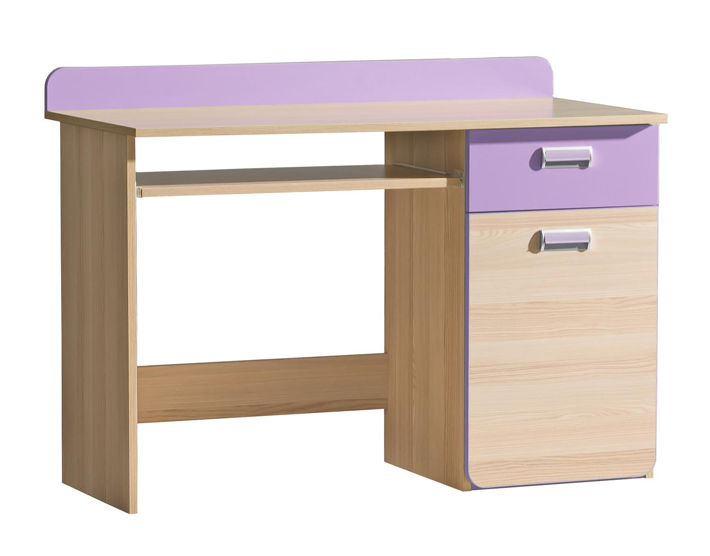 Dolmar Písací stolík Lorento L10 Farba: Jaseň coimbra / fialová