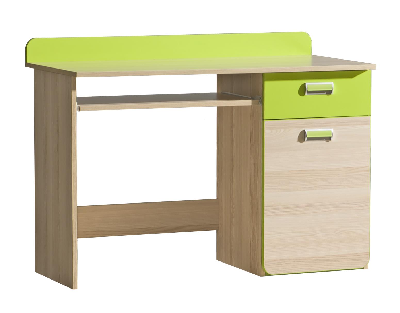 Dolmar Písací stolík Lorento L10 Farba: Jaseň coimbra / zelená