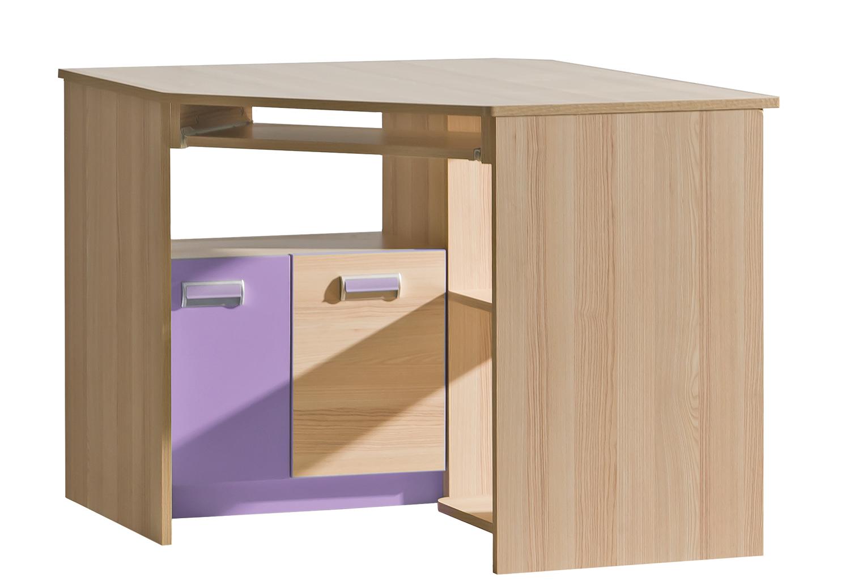 Dolmar Rohový písací stolík Lorento L11 Farba: Jaseň coimbra / fialová